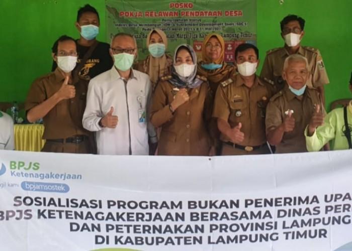 BPJamsostek-Disbunak Lampung Sosialisasikan Program BPU BPJS Ketenagakerjaan di Lamtim