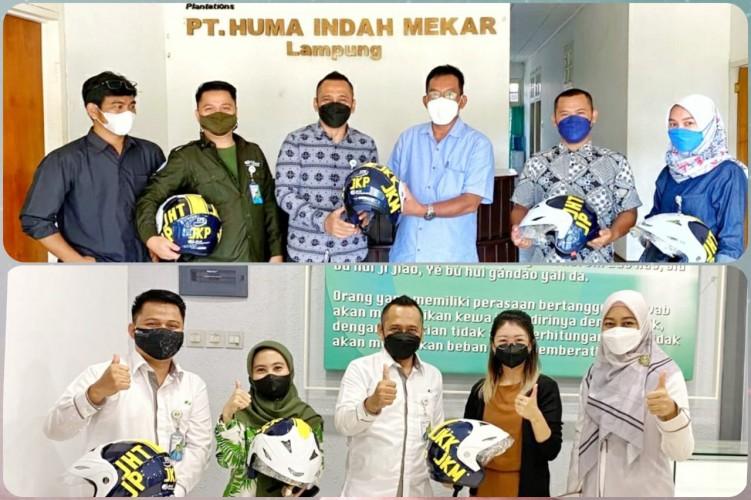 BPJamsostek Lampung Tengah Salurkan Bantuan Helm untuk Para Pekerja