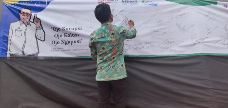 BPJamsostek Lampung Tengah Serukan Lawan Korupsi dalam Harkodia 2020