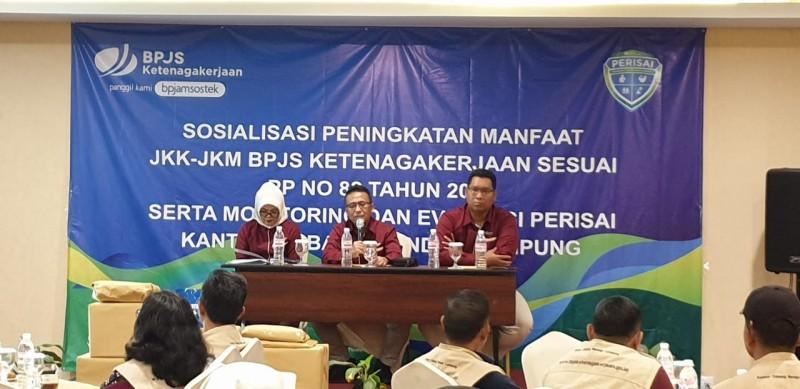 BPJamsostek Sosialisasikan Peningkatan Manfaat JKK-JKM ke Agen Perisai