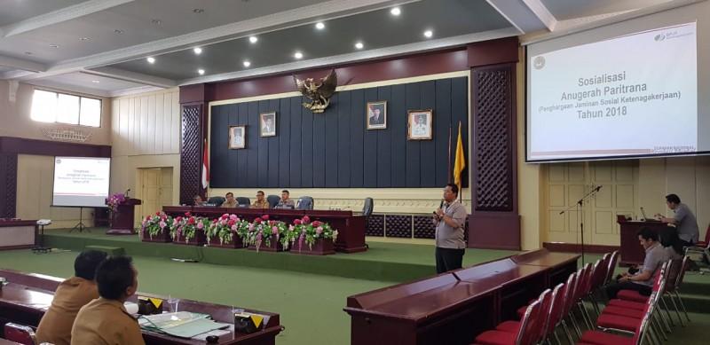 BPJSTK Gelar Sosialisasi Paritrana kepada 15 Kabupaten/Kota di Lampung