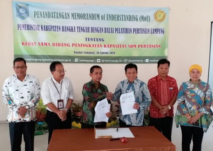 BPP Lampung-Pemkab Bangka Tengah Teken Kerja Sama