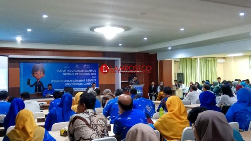 BPS Lampung Gandeng Unila Sukseskan Sensus Penduduk