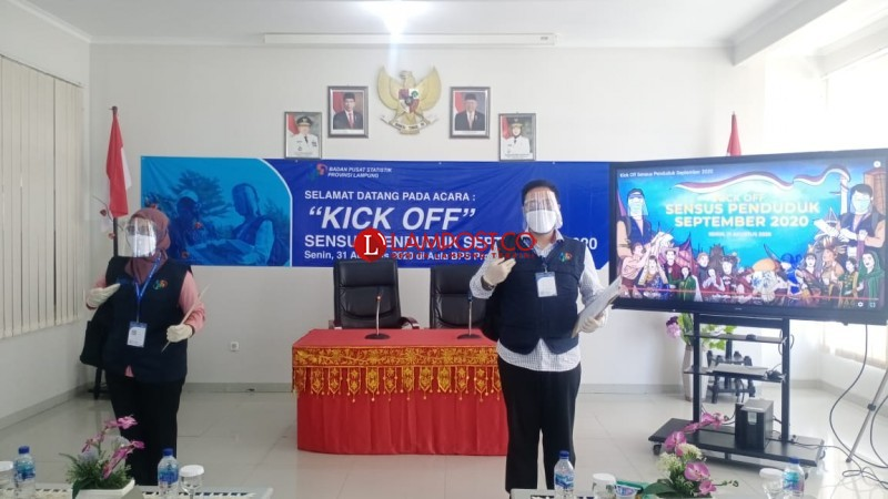 BPS Lampung Jamin Protokol Kesehatan Petugas Sensus