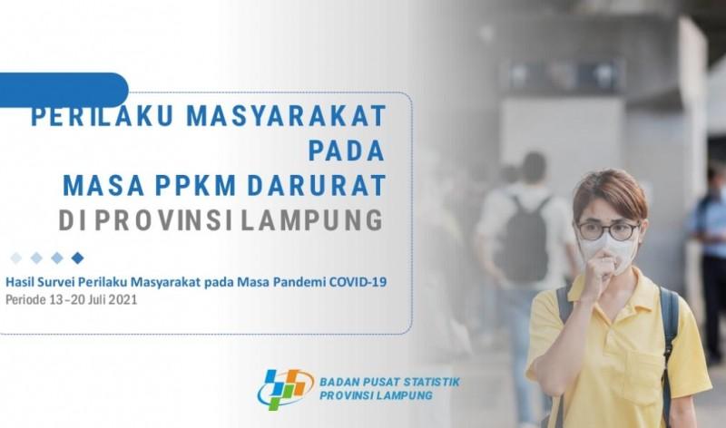 BPS Lampung Sebut Perempuan Lebih Taat Prokes
