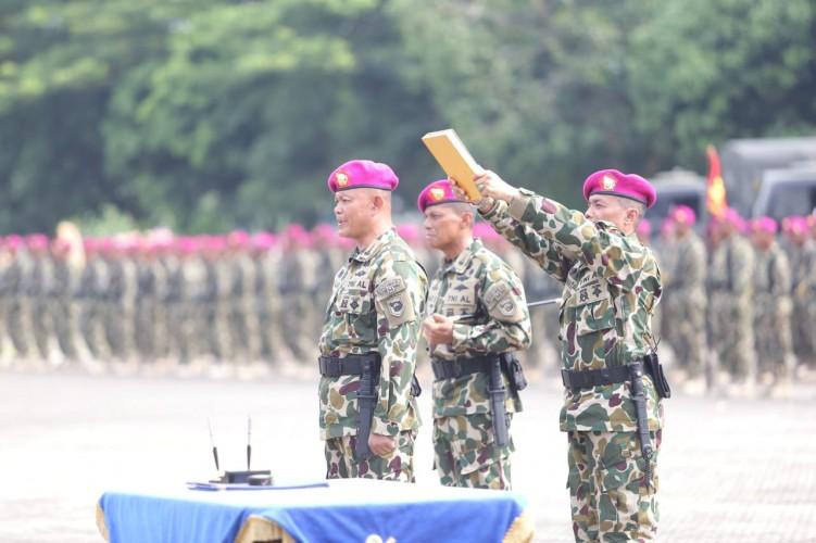 Brigif-4 Marinir Piabung Gelar Serah-Terima Jabatan