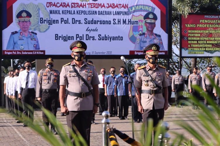 Brigjen Pol Subiyanto Resmi Menjabat Wakapolda Lampung
