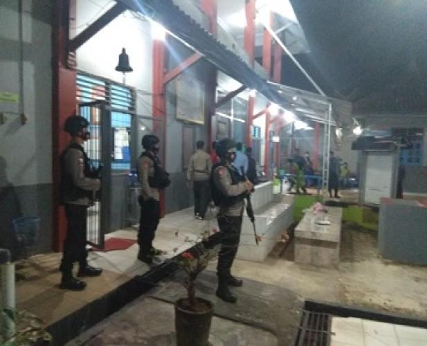 Brimob Amankan Kericuhan diRutan Sukadana, 20 Tahanan Dipindahkan
