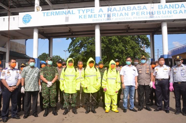 Bukit Asam Sebagai Satgas BUMN Cegah Covid-19 di Terminal Rajabasa