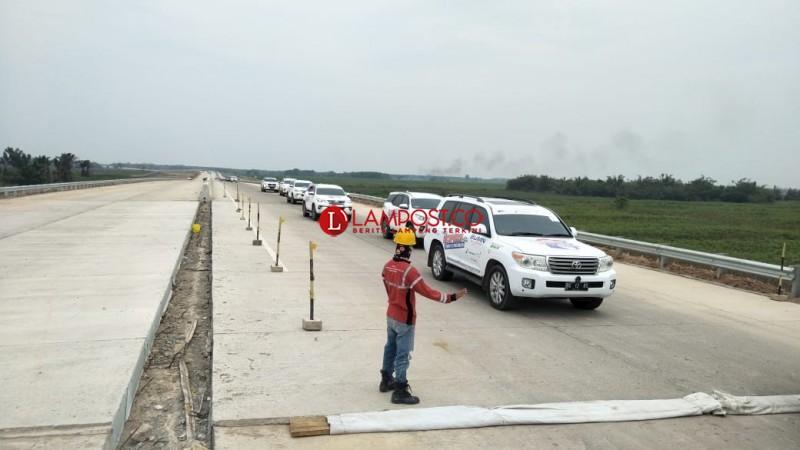 BUMN Gelar Ekspedisi Tembus Tol Trans Sumatera Bakauheni-Palembang