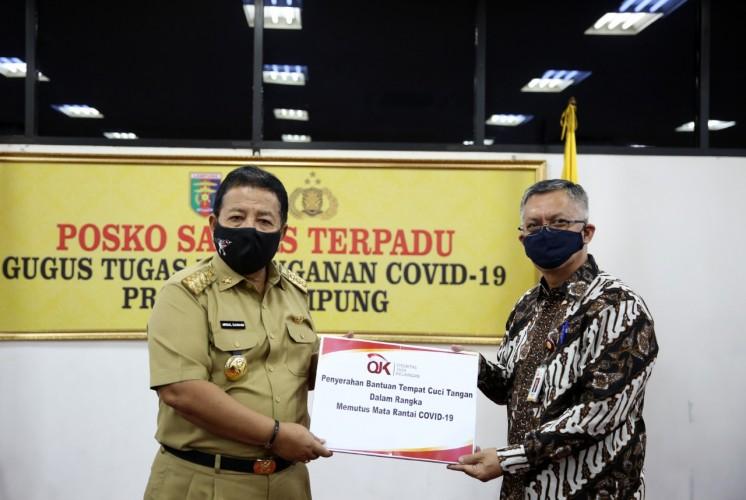 BUMN, OJK, dan Asosiasi Asuransi Bantu Penanganan Covid-19 di Lampung
