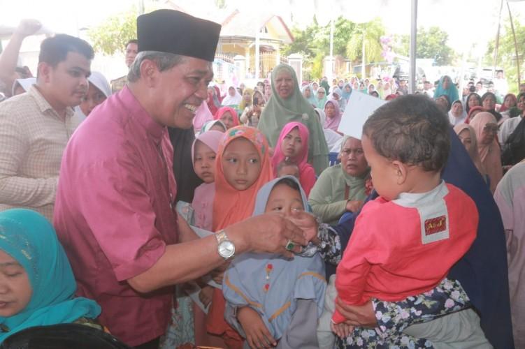 Bupati Loekman Hadiri Tasyakuran Jemaah Haji Lamteng