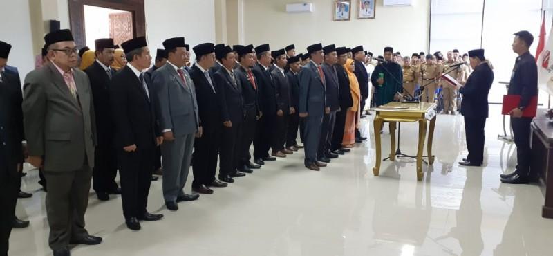 Bupati Mesuji Lantik Sekkab dan 79 Pejabat Eselon