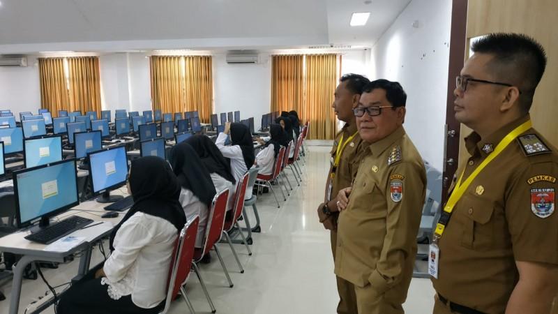 Bupati Mesuji Tinjau Pelaksanaan Tes CPNS di Itera