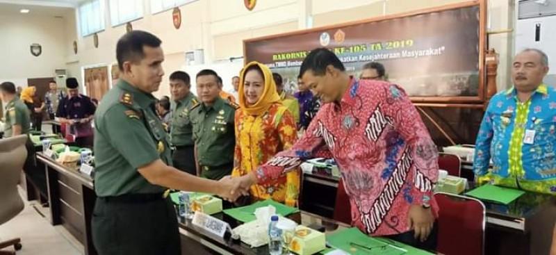 Bupati Winarti Sambangi Kota Palembang Hadiri Rakornis TMMD Ke-105