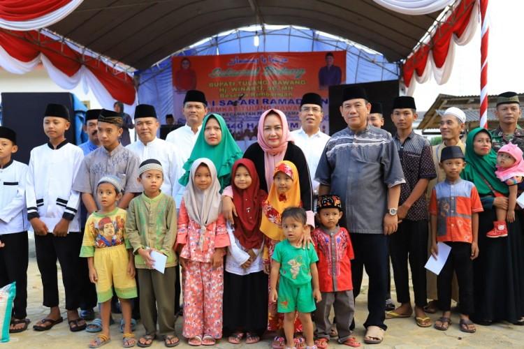 Bupati Tuba Safari Ramadan ke Kampung Trijaya Penawartama