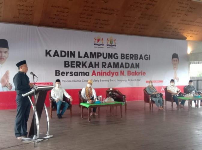 Bupati Tubaba Dukung Anindya Bakrie Jadi Ketua Kadin