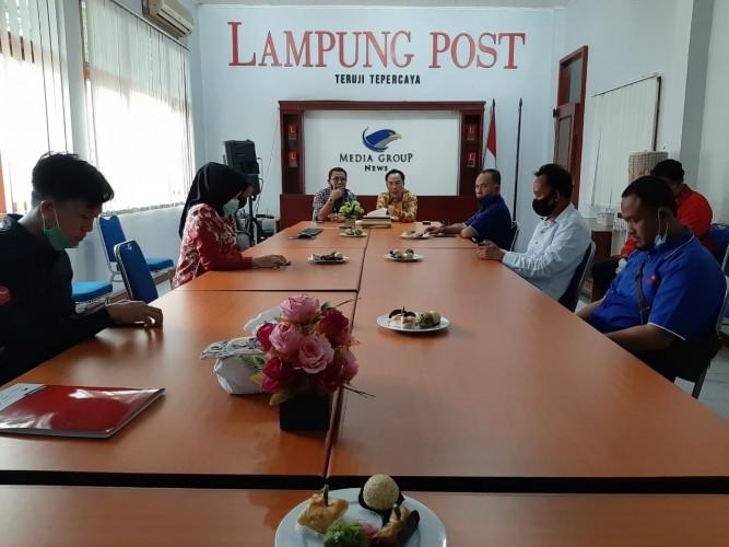 Bupati Way Kanan Kunjungi Lampung Post