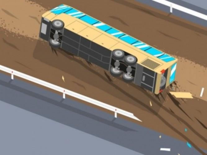 Bus Rombongan Kiai PWNU Jatim Kecelakaan di Cipali