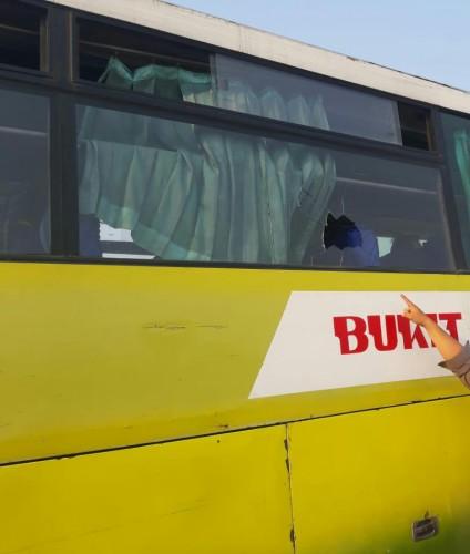 Bus Suporter Bobotoh Diserang di Sukarame