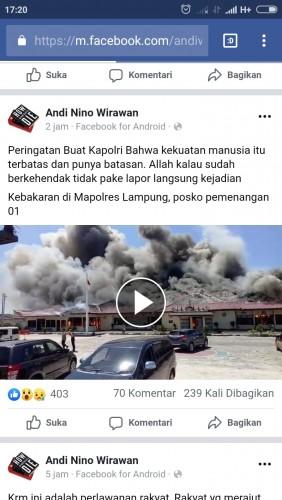 Buzzer Pelintir Kebakaran Dikaitkan dengan Politik