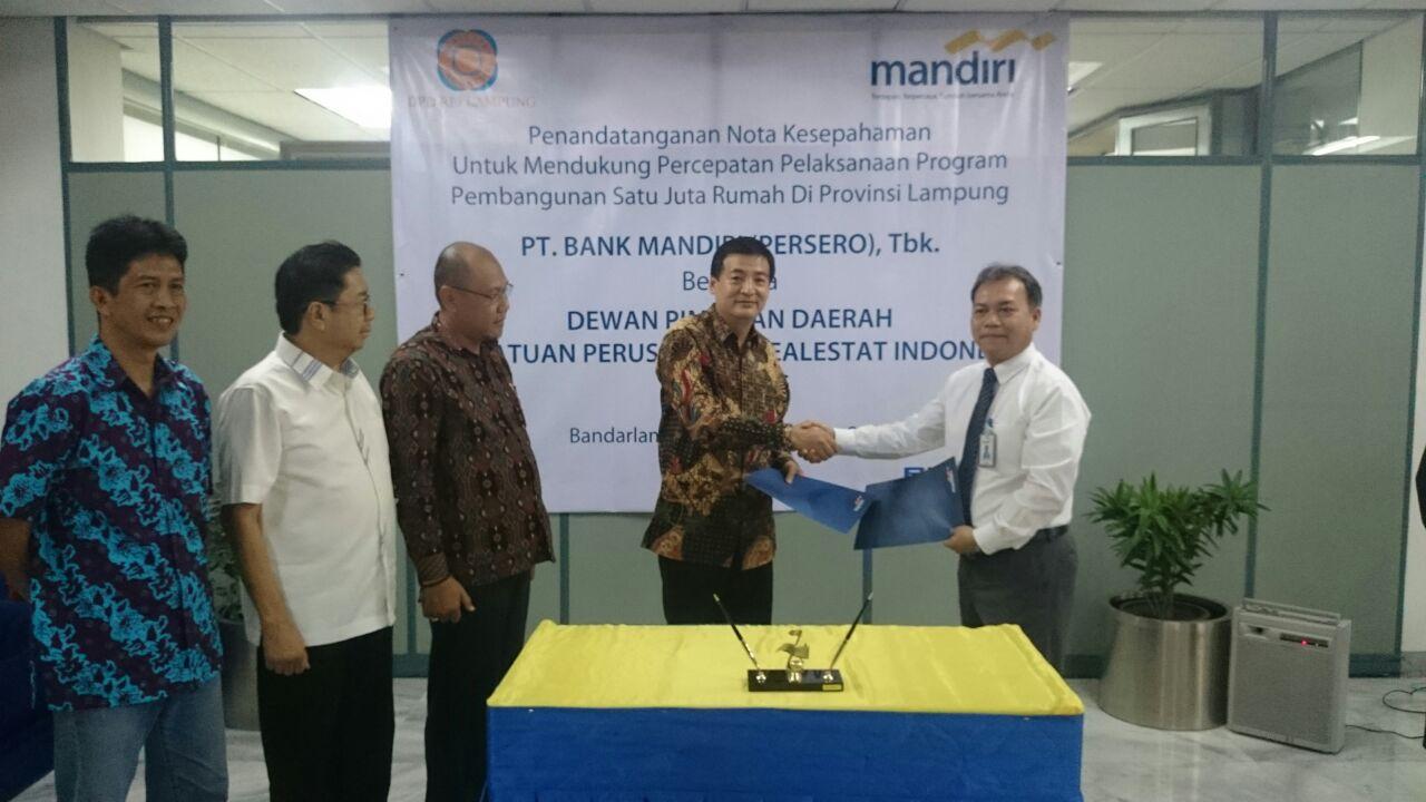 REI-Bank Mandiri Percepat  Pembangunan Rumah Subsidi