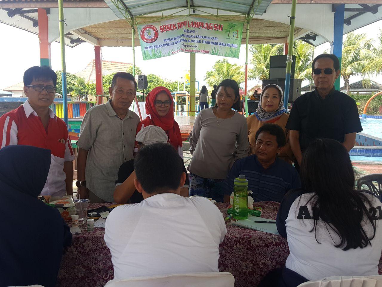 Taman Palem Indah Metro-DPP Lampung Sai Gelar Cek Kesehatan Gratis