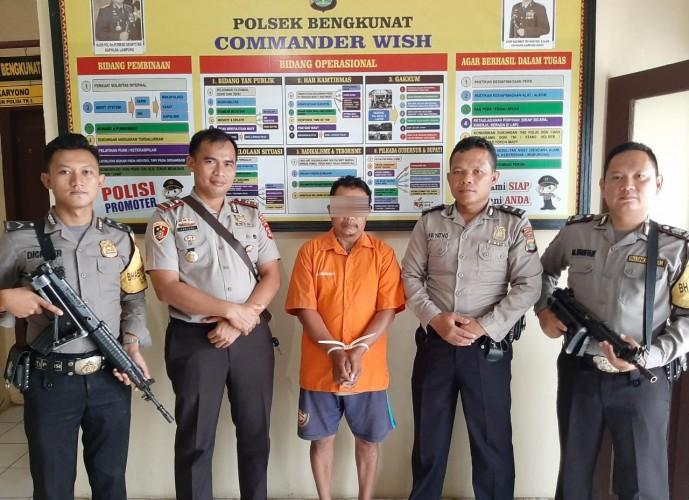 Cabuli Anak Tiri, Warga Sukanegeri Ditangkap