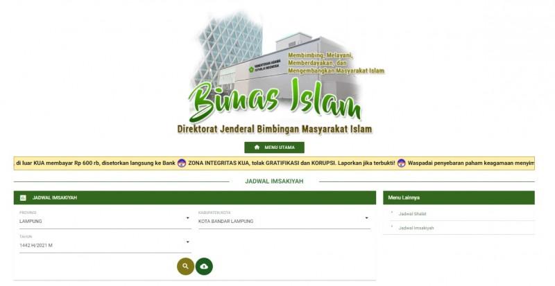 Cara <i>Download</i> Jadwal Imsakiyah Ramadan 1442 H