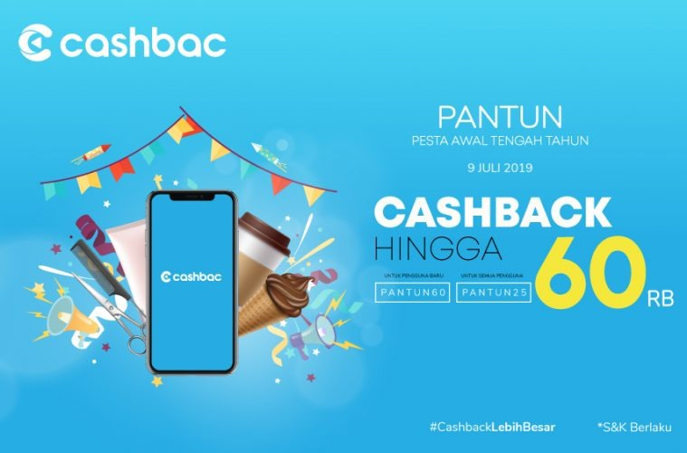 Cashbac Hadirkan Promo PANTUN Khusus 9 Juli