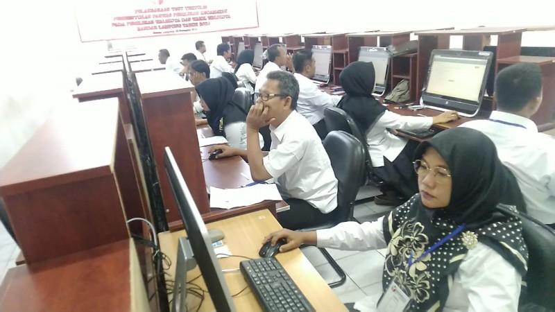 CAT Panwascam Bandar Lampung Alami Gangguan Server