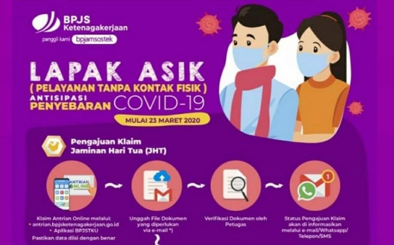Cegah Covid-19, BPJamsostek Bandar Lampung Optimalkan Lapak Asik