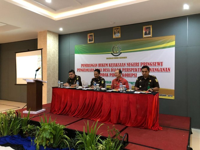 Cegah Korupsi Dana Desa, Kejari Pringsewu Gelar Penyuluhan Hukum kepada Kepala Pekon