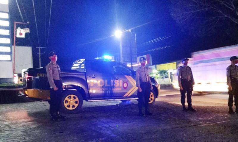 Cegah Kriminalitas, Polres Tulangbawang Giat Lakukan Patroli Malam