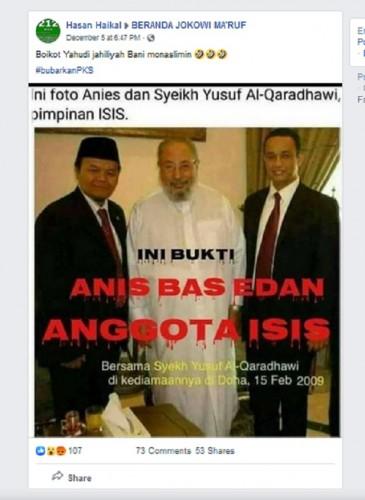 [Cek Fakta] Anies Baswedan Foto Bareng Pemimpin ISIS