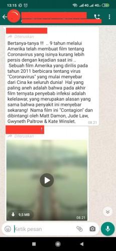 [Cek Fakta] Benarkah Film <i>Contagion</i> Sudah Lama Memprediksi Pandemi Korona? Ini Faktanya
