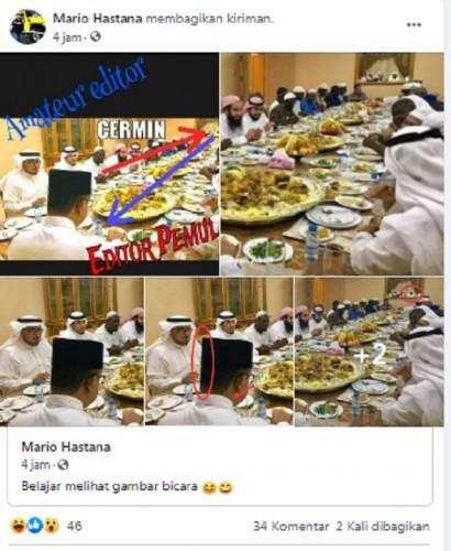 [Cek Fakta] Benarkah Foto Anies Makan Bersama Sejumlah Orang Bergamis Ini Editan?