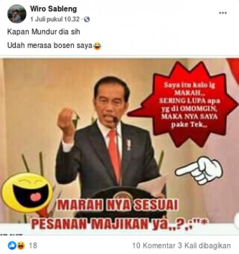 [Cek Fakta] Benarkah Jokowi Marah Menggunakan Teks? Cek Faktanya