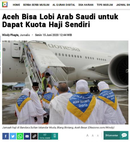[Cek Fakta] Berbeda, Jemaah Haji Asal Aceh Tetap Berangkat Haji Tahun Ini? Begini Faktanya
