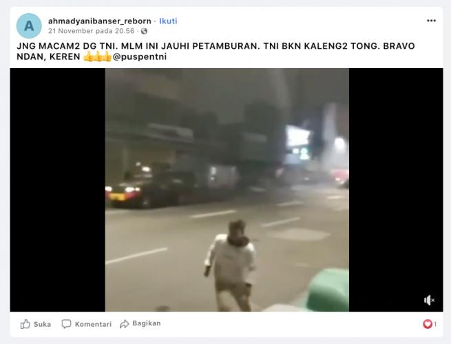 [Cek Fakta] Beredar Kerusuhan di Petamburan? Cek Faktanya