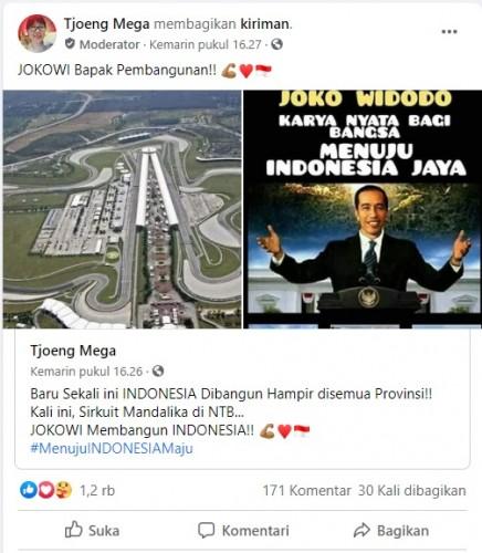 [Cek Fakta] Foto Penampakan Sirkuit Mandalika Telah Rampung Dibangun Jokowi? Ini Faktanya