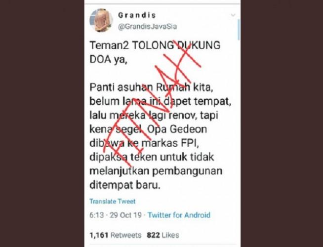 [Cek Fakta] FPI Segel Panti Asuhan di Bekasi?