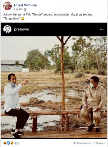 [Cek Fakta] Jokowi dan Prabowo Bicara Tentang Rakyat yang Tenggelam? Ini Faktanya