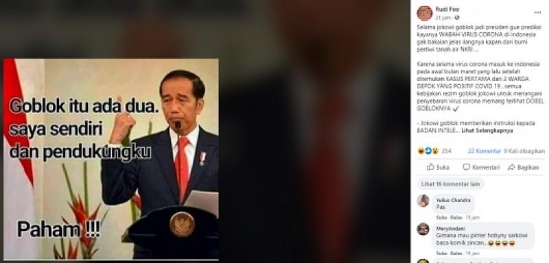 [Cek Fakta] Jokowi Dikabarkan Mengumpat ke Pendukungnya ? Ini Faktanya