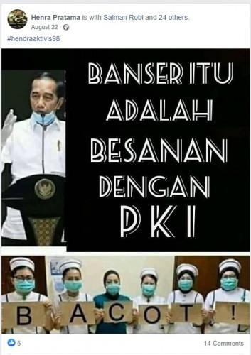 [Cek Fakta] Jokowi Sebut Banser Berbesan dengan PKI? Ini Faktanya