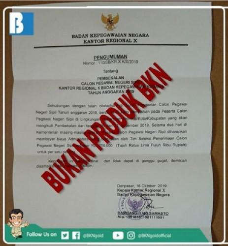 [Cek Fakta] Peserta CPNS Harus Membayar Rp750 Ribu untuk Pembekalan