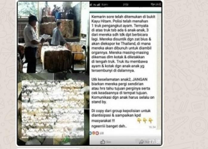 [Cek Fakta] Polisi Temukan Enam Anak dalam Kardus yang akan Diekspor ke Thailand untuk Diambil Organnya?