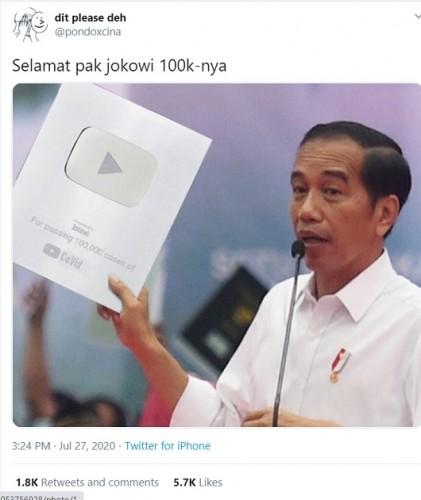 [Cek Fakta] Presiden Jokowi Mendapatkan Silver Play Button Covid-19? Ini Faktanya