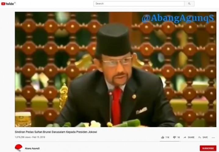 [Cek Fakta] Sultan Brunei Sindir Jokowi Mabuk Kekuasaan? Ini Faktanya