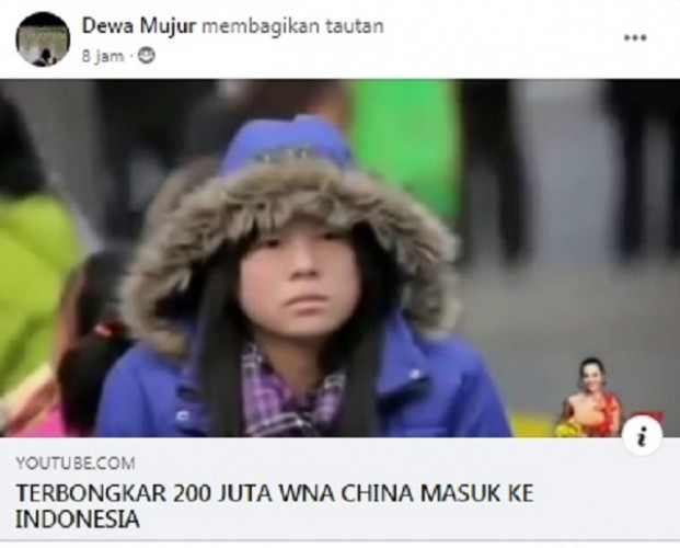 [Cek Fakta] Terbongkar 200 Juta WN Tiongkok Masuk ke Indonesia? Ini Faktanya